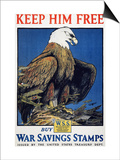 World War I: Saving Stamps Posters by Charles Livingston Bull