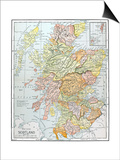 Map: Scotland Prints