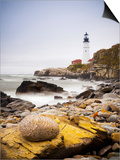 Portland Head Lighthouse, Portland, Maine,New England, United States of America, North America Posters by Alan Copson