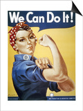 WWII: Rosie The Riveter Prints