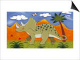 Timmy the Triceratops Prints by Sophie Harding