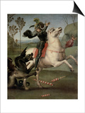 St. George Fighting the Dragon Posters by  Raphael