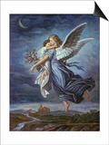The Guardian Angel Poster by Wilhelm Von Kaulbach