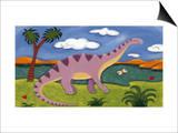 Dippy the Diplodocus Prints by Sophie Harding