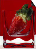 Strawberry in a Glass of Water Poster by Vladimir Shulevsky