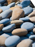 Olympic National Park, Wa: Blue and Brown Stones Found on Ruby Beach Prints by Brad Beck