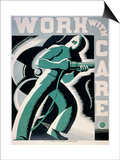 New Deal: Wpa Poster Print by Robert Muchley