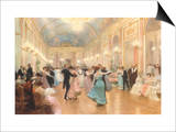 An Elegant Soiree Poster by Victor Gabriel Gilbert