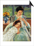 Cassatt: Mother Sewing Prints by Mary Cassatt