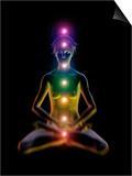 Yoga And the Chakras Prints by Jose Antonio