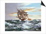 Dès l'aube contre vents et marée Posters par Montague Dawson