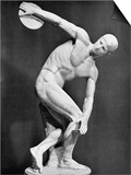 The Discobolus, 450.B.C Print by  Myron