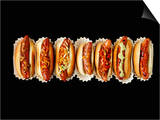 A Row of Hot Dogs Prints by Jim Norton