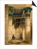 Under the Grand Portico, Philae Posters by David Roberts