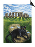 European Cat at Stonehenge/Great Britain Prints by Isy Ochoa