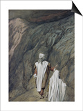 Moses and Aaron Go Up to Mount Sinai Poster by James Tissot