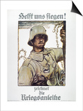 World War I: German Poster Poster by Fritz Erler