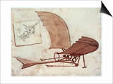 Flying Machine Prints by  Leonardo da Vinci