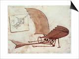 Flying Machine Art by  Leonardo da Vinci