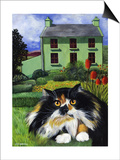 Persian Cat in Ireland (Chat Persan En Irland) Poster by Isy Ochoa