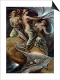 Fates Gathering In Stars Prints by Elihu Vedder