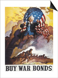World War Ii Bond Poster Posters by Newell Convers Wyeth