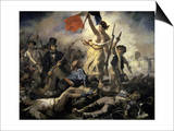 La Liberte Guidant Le Peuple Prints by Eugene Delacroix