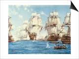 La bataille de Trafalgar Affiches par Montague Dawson