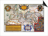 Map Of The Roman Empire Posters by Abraham Oertel