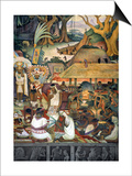 Rivera: Pre-Columbian Life Print by Diego Rivera