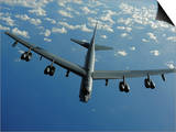 A U.S. Air Force B-52 Stratofortress Flies a Mission over the Pacific Ocean Posters by  Stocktrek Images