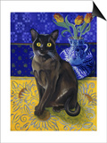 Burmese Cat, Series I Print by Isy Ochoa