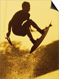 Silhouette of a Man Wakeboarding Prints