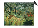 Tropical Storm with Tiger, Surprise Prints by Henri Rousseau