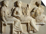 Poseidon, Apollo and Artemis, the Parthenon Frieze (East Side), c. 442-38 BC Classical Greek Posters