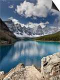 Moraine Lake in Fall with Fresh Snow, Banff Nat'l Park, UNESCO World Heritage Site, Alberta, Canada Prints by James Hager