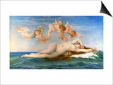 The Birth Of Venus Prints by Alexandre Cabanel