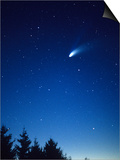Comet Hale-Bopp as Seen from Hazen's Notch, Vermont Art by Gustav W. Verderber