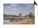 Saint Mammes Prints by Alfred Sisley