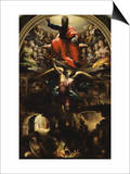 Archangel Michael Chasing Rebel Angels Prints by Domenico Beccafumi
