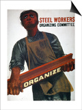 Shahn: Steel Union Poster Art by Ben Shahn