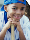 Close-up of a Boy From a Little League Baseball Team Poster