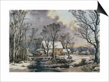Currier & Ives: Winter Scene Prints by  Currier & Ives