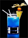 Drink Made with Blue Curaçao Poster by Walter Pfisterer