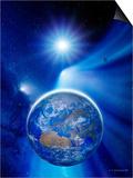 Earth In a Comet's Tail Posters by Detlev Van Ravenswaay