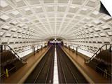 Foggy Bottom Metro Station Platform, Part of the Washington D.C. Metro System, Washington D.C., USA Art by Mark Chivers
