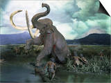 Mammoth Hunt, Lower Paleolithic era, Reconstruction Posters