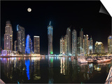 Dubai Marina, Dubai, United Arab Emirates, Middle East Posters by Antonio Busiello