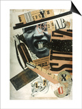 Raoul Hausmann: Abcd, 1923 Poster by Raoul Hausmann