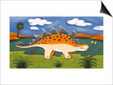 Steggy the Stegosaurus Posters by Sophie Harding